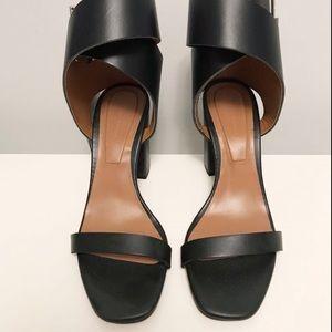 BNWT Zara leather ankle wrap sandals